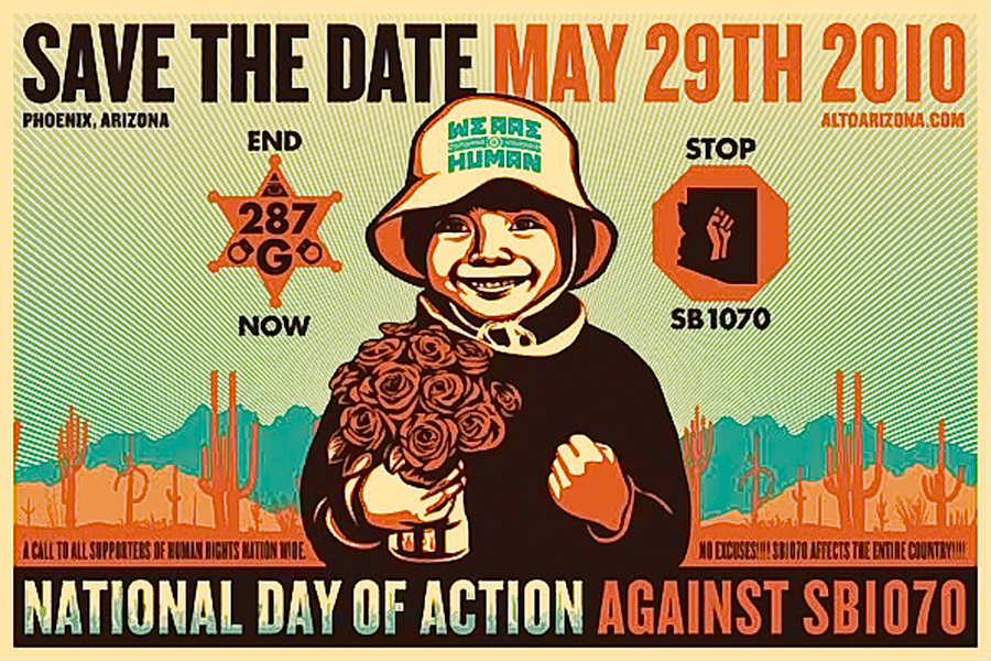 Flyer from the national day of protest against SB1070 (May 29, 2010)