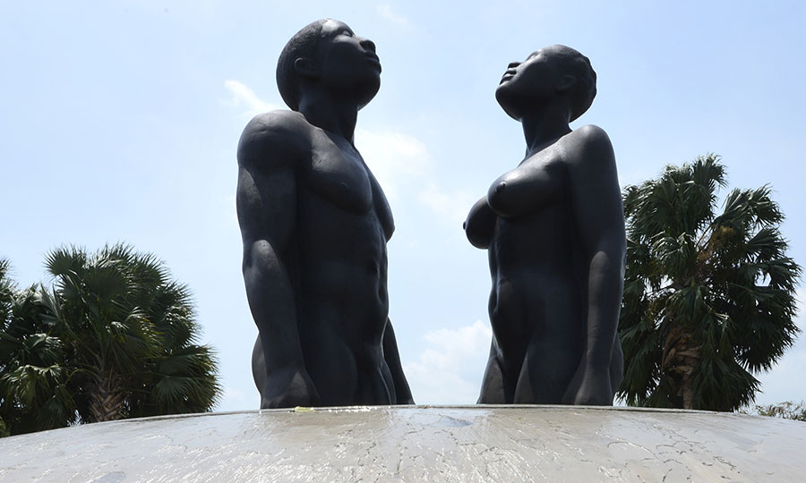 Sculpture by Laura Facey Cooper in Emancipation Park, Kingston, Jamaica. Photo by Ricardo Makyn.