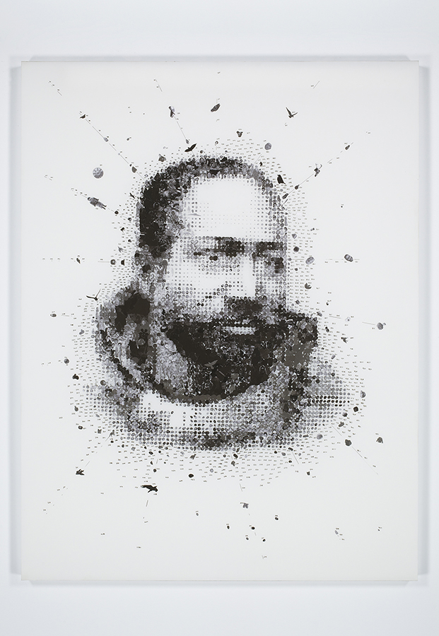 Fig.1. Tavares Strachan, Henson, 2011. Collage, Mylar on Plexiglas. 60 x 26 inches. Courtesy of the Artist, Isolated Labs.