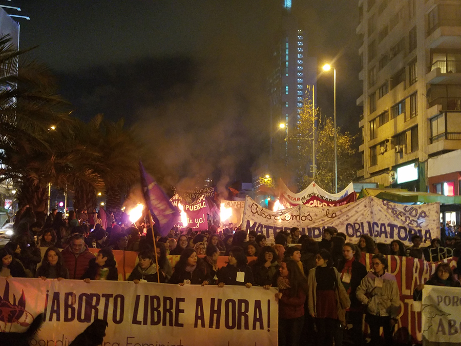 Abortion Legalization March in Chile. Photo: Marcial Godoy-Anativia