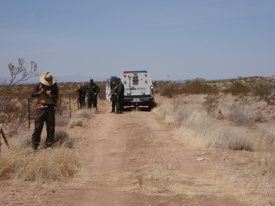 Being chased by border patrol