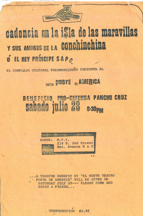 Publicity flyer for a production of Cadencia in New York. Courtesy of Rafael Pagán.