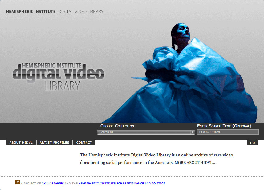 The Hemispheric Institute Digital Video Library