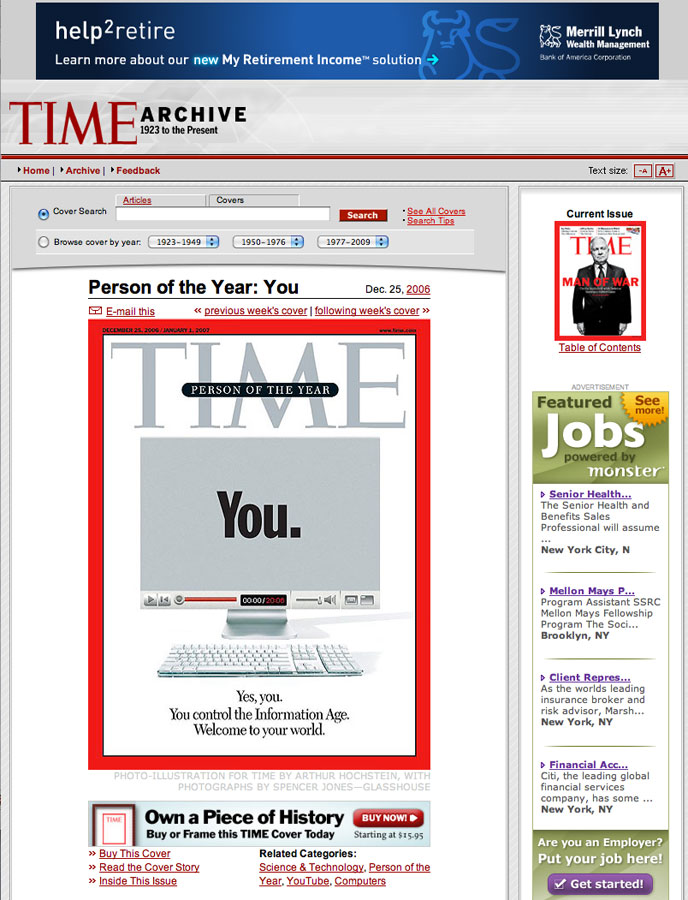 Time Magazine online, December 2006