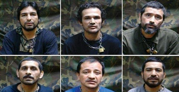 These are six of the last ten servicemen released by the farc in april 2012.
