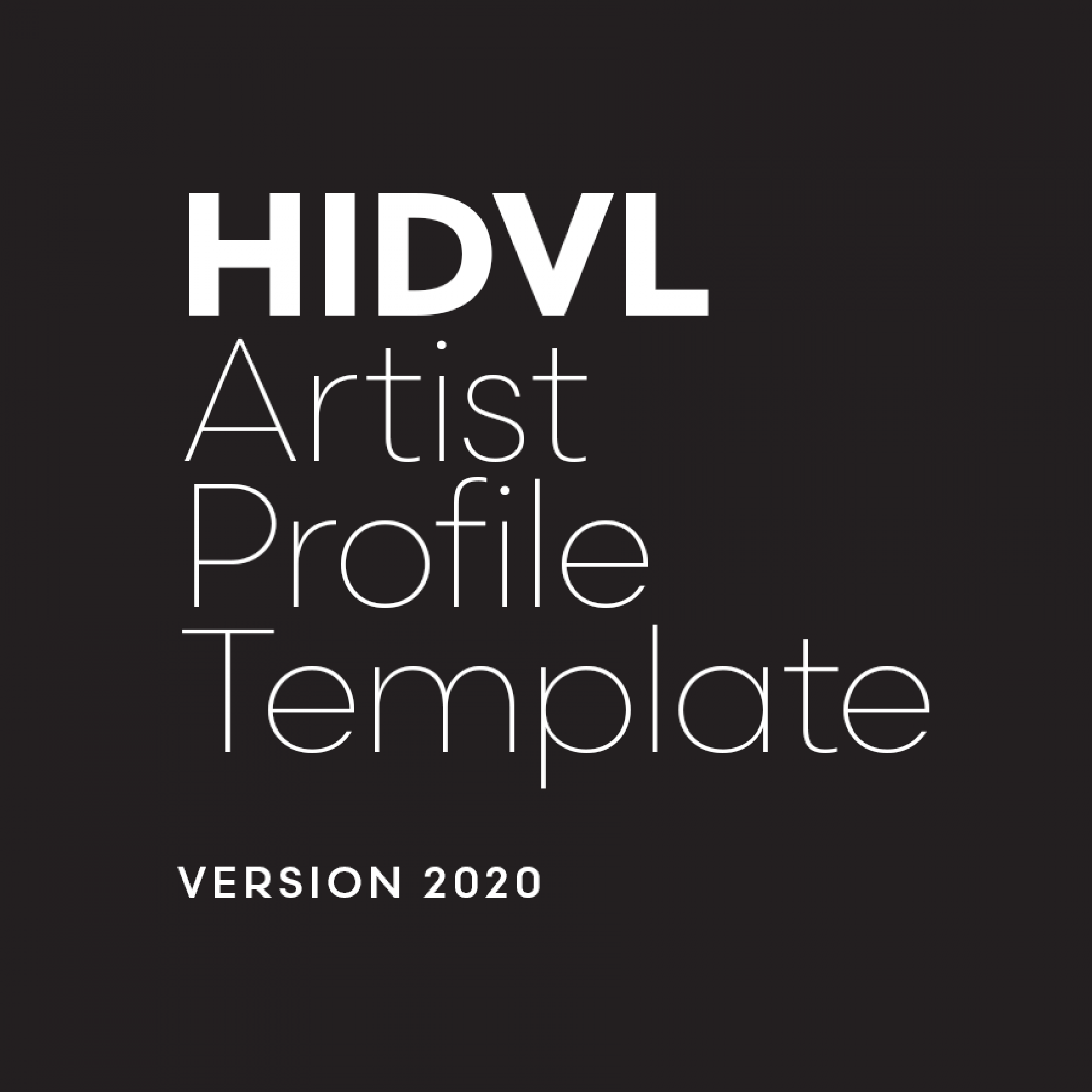 HIDVL Template Category: Home 2020